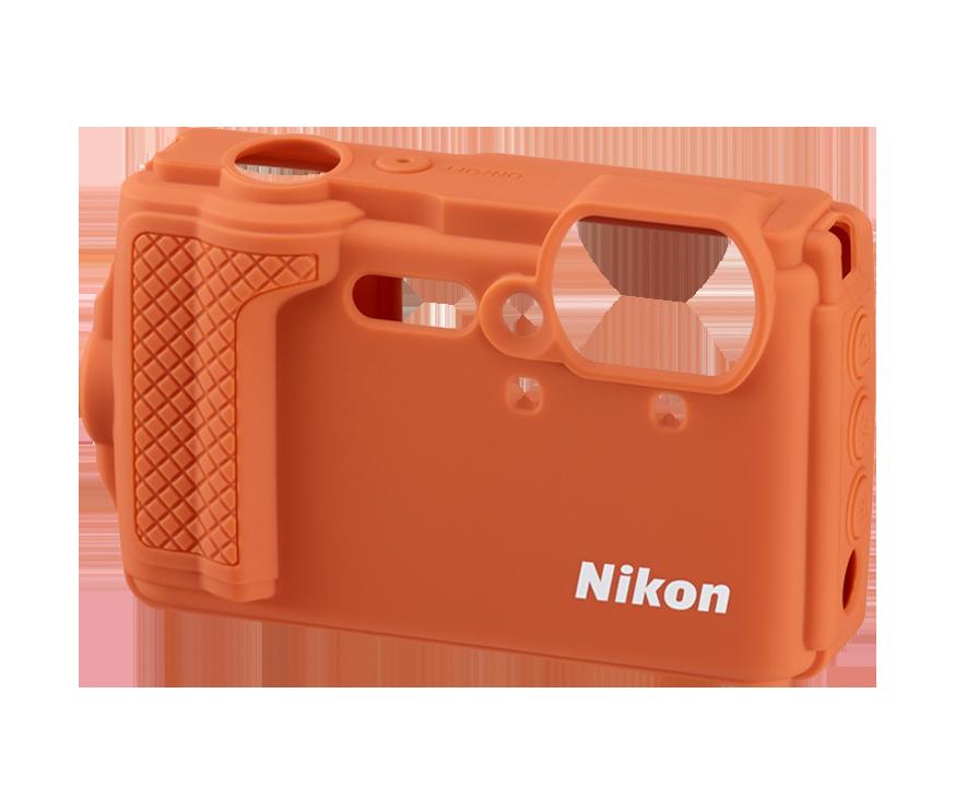Silikonowa osłona na aparat W300 - pomarańczowa
