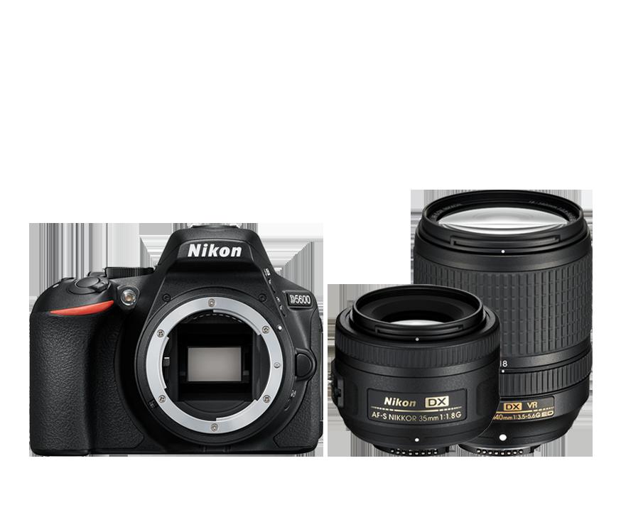 D5600 + AF-S 18–140 VR + AF-S DX NIKKOR 35 mm f/1,8G