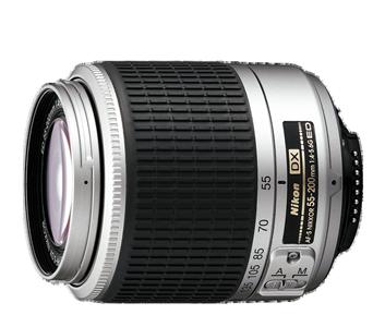 55-200mm f/4-5.6G ED AF-S DX NIKKOR (Silver)