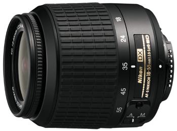 18-55 F3.5-5.6G AF-S DX Zoom-Nikkor, Black